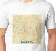 Glasgow Map Retro Unisex T-Shirt