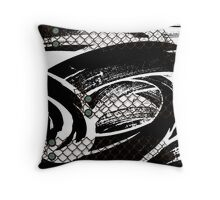 Modern abstract with buttons and Chicken wire Throw Pillow