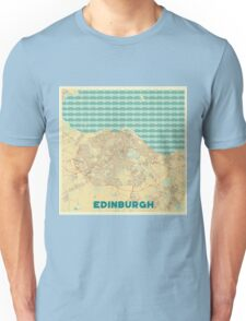 Edinburgh Map Retro Unisex T-Shirt