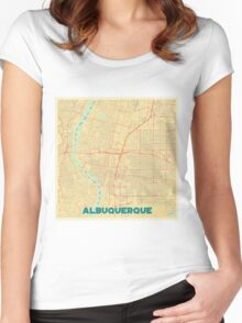 Albuquerque Map Retro Women's Fitted Scoop T-Shirt