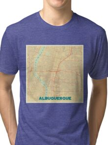 Albuquerque Map Retro Tri-blend T-Shirt