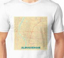 Albuquerque Map Retro Unisex T-Shirt
