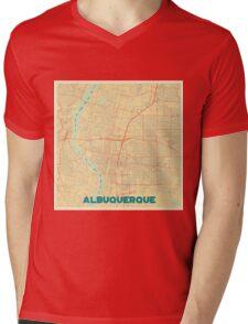 Albuquerque Map Retro Mens V-Neck T-Shirt