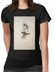 John Gould The Birds of Europe 1837 V1 V5 183 Reed Bunting Womens Fitted T-Shirt