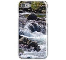 Flowing River Over Rocks iPhone Case/Skin