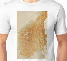 Vintage Map of Norway (1914) Unisex T-Shirt