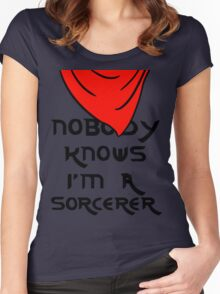 Nobody knows I'm a sorcerer - 1 Women's Fitted Scoop T-Shirt