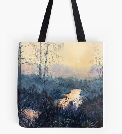 Sunset on Skipwith Common Tote Bag