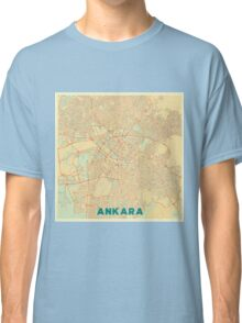 Ankara Map Retro Classic T-Shirt