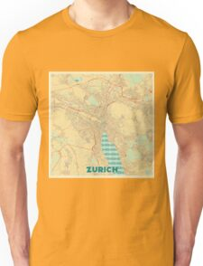 Zurich Map Retro Unisex T-Shirt