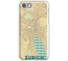 Zurich Map Retro iPhone Case/Skin