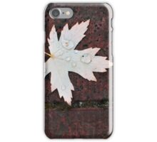 Leaf and water drop iPhone Case/Skin