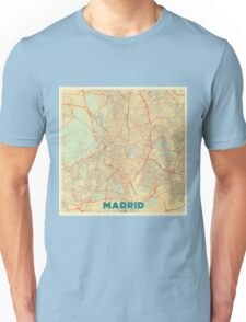 Madrid Map Retro Unisex T-Shirt