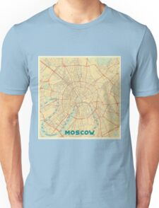Moscow Map Retro Unisex T-Shirt
