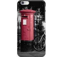 Red Post Boxes iPhone Case/Skin