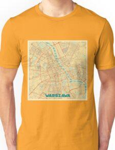 Warszawa Map Retro Unisex T-Shirt