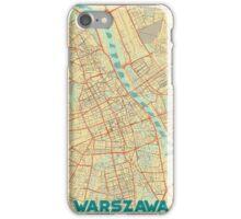 Warszawa Map Retro iPhone Case/Skin