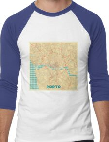 Porto Map Retro Men's Baseball ¾ T-Shirt