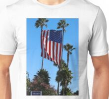 Huge USA Flag Supporting Donald Trump Campaign Unisex T-Shirt