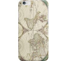 Vintage Map of The World (1680) iPhone Case/Skin