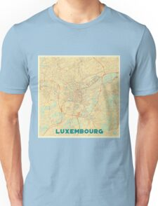 Luxembourg Map Retro Unisex T-Shirt