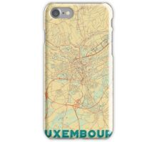 Luxembourg Map Retro iPhone Case/Skin