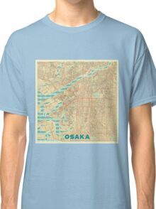 Osaka Map Retro Classic T-Shirt