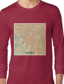 Osaka Map Retro Long Sleeve T-Shirt