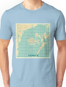Venice Map Retro Unisex T-Shirt