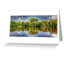 forest mirroring Greeting Card