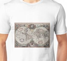 Vintage Map of The World (1630) Unisex T-Shirt