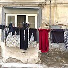 Washday in Naples by Christine  Wilson