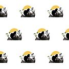 Panda Relaxing (Pattern) by Adamzworld