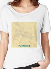 Florence Map Retro Women's Relaxed Fit T-Shirt