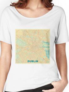 Dublin Map Retro Women's Relaxed Fit T-Shirt