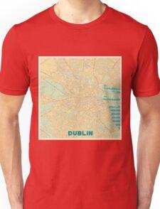 Dublin Map Retro Unisex T-Shirt