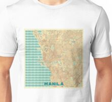 Manila Map Retro Unisex T-Shirt