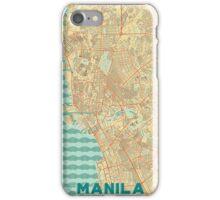 Manila Map Retro iPhone Case/Skin