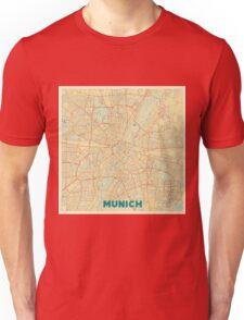 Munich Map Retro Unisex T-Shirt