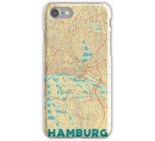 Hamburg Map Retro iPhone Case/Skin