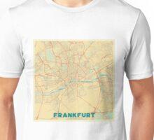 Frankfurt Map Retro Unisex T-Shirt