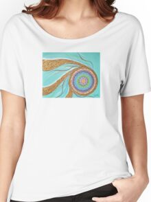 Turquoise mandala Women's Relaxed Fit T-Shirt
