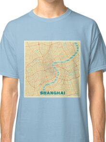 Shanghai Map Retro Classic T-Shirt