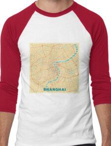 Shanghai Map Retro Men's Baseball ¾ T-Shirt