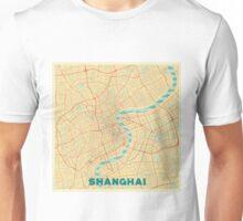 Shanghai Map Retro Unisex T-Shirt