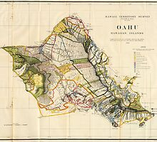 Vintage Map of Oahu Hawaii (1906) by BravuraMedia