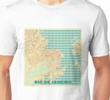 Rio De Janerio Map Retro Unisex T-Shirt