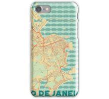 Rio De Janerio Map Retro iPhone Case/Skin