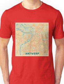 Antwerp Map Retro Unisex T-Shirt