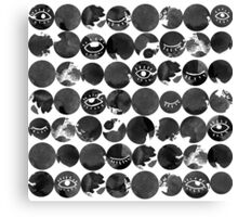 Ink dots with eyes Canvas Print